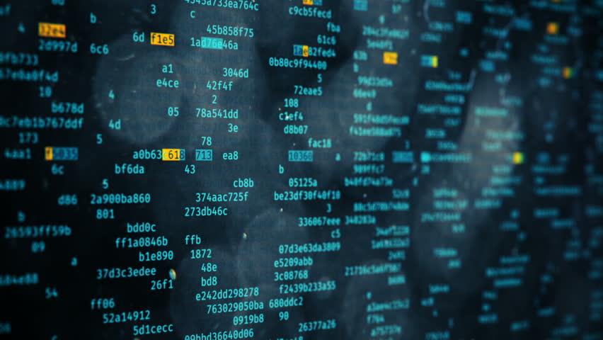 Hacker Stealing Data Alert Text On Screen Security