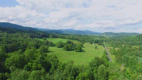 Shenandoah Valley Virginia Aerial Footage - Medium to High Altitude