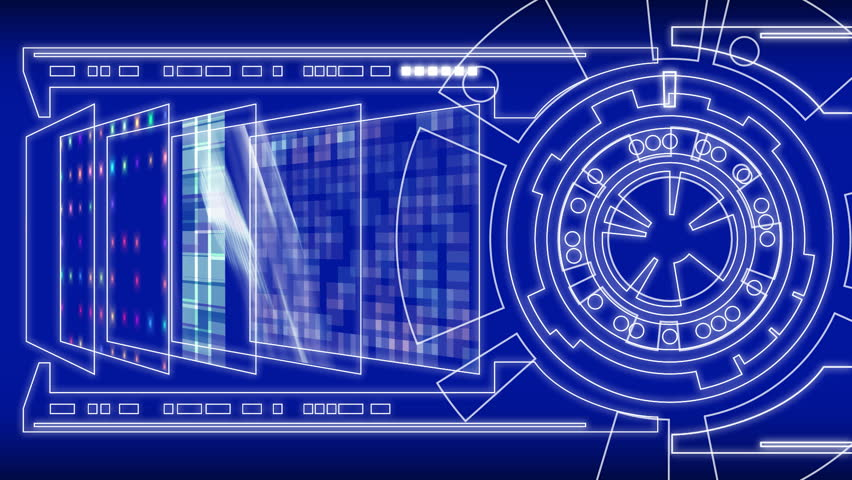Stylized interface design process blueprint animation concept a high tech sci fi display this animation could be used as a malvernweather Gallery