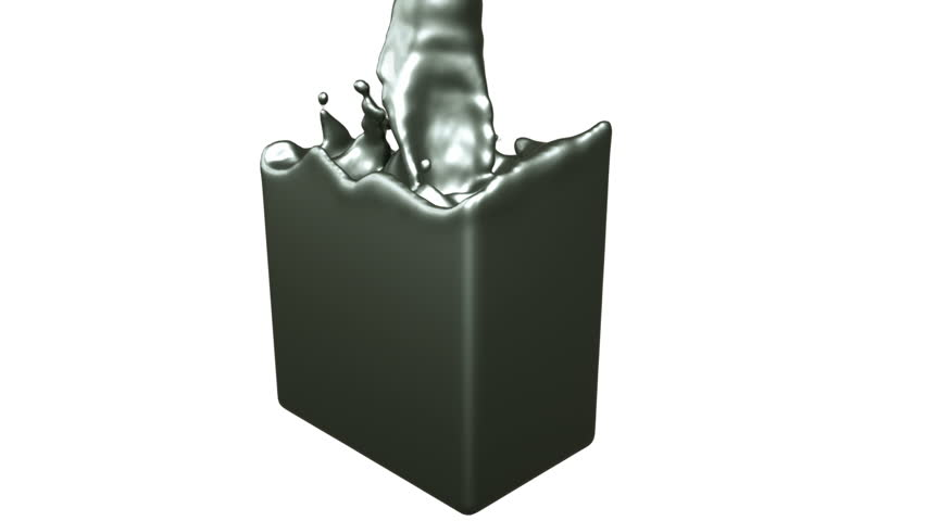 Fluid metal fills up a container slowly   Shutterstock HD Video #19418674