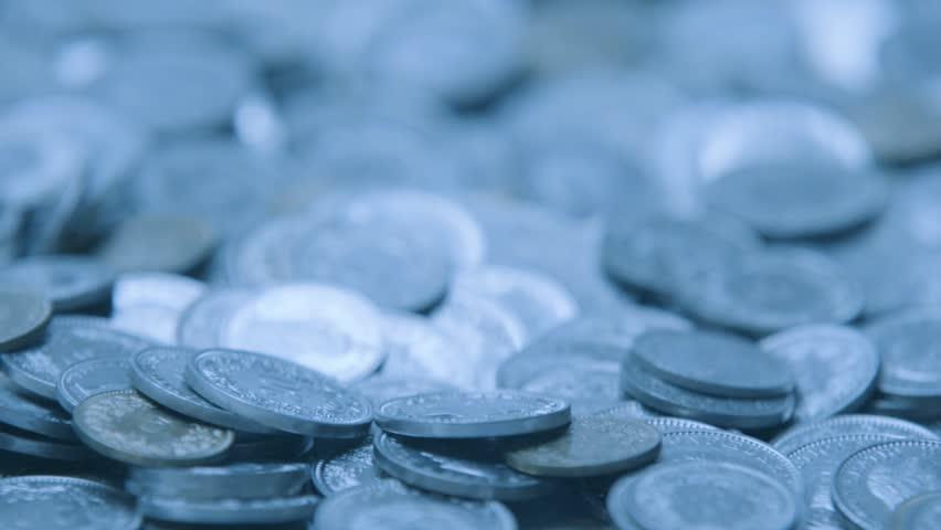 Swiss money coins falling in slow motion Metal coins from switzerland   Shutterstock HD Video #19430644