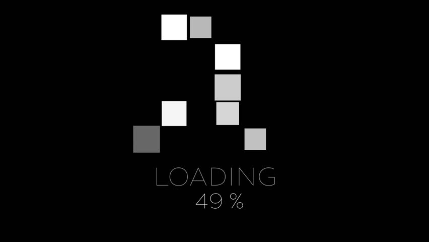 4K Computer Loading Sign Animation Black and White super flexible, loopable design and very easy to use.It can be colorized, the black BG can be transparent, can be looped and even more. | Shutterstock HD Video #19458754