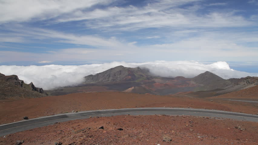 Car driving up haleakala volcano stock footage video 1287817 haleakala crater road with a view into haleakala crater at the end of the pan publicscrutiny Image collections