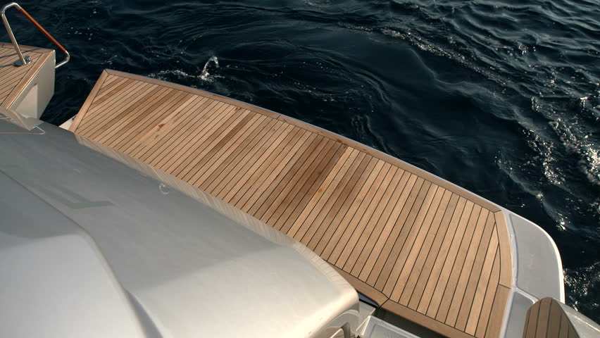 Bathing platform on a luxury yacht moves into the water  | Shutterstock HD Video #19470994