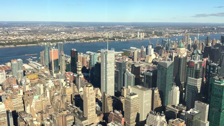 NEW YORK CITY â?? OCTOBER 2015: Aerial view of Midtown. New York attracts 50 million visitors worldwide. #19474564