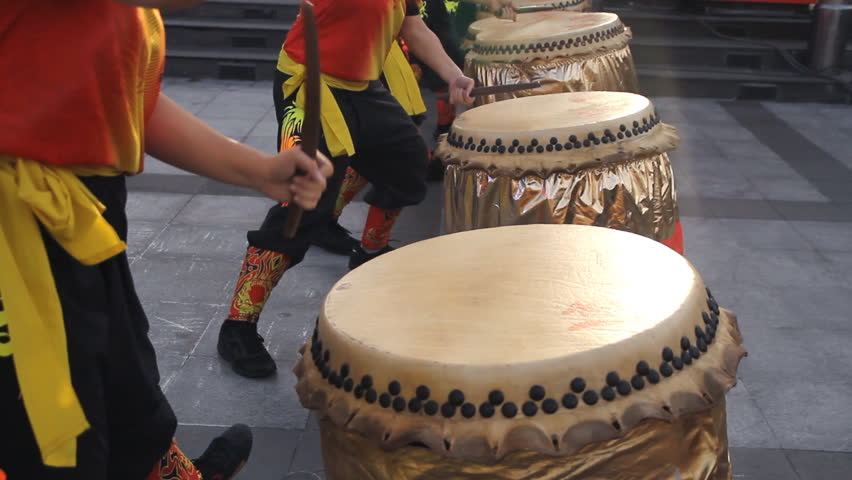 Chinese traditional drum performance