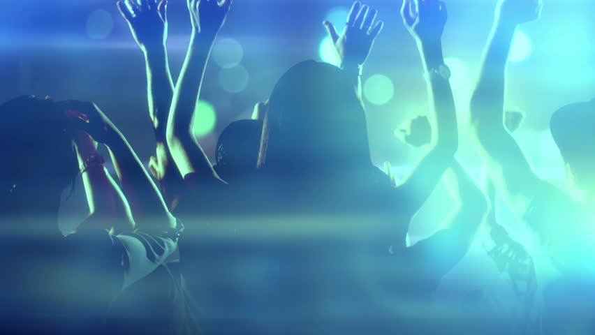 Footage of a crowd partying, dancing at a concert. Shot on RED EPIC Cinema Camera in slow motion. | Shutterstock HD Video #19708144