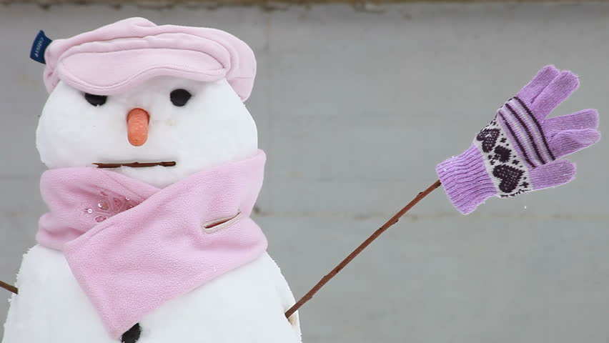 Cute snowman | Shutterstock HD Video #1972684