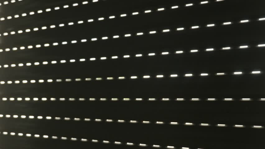 Window blind plastic covering with lot of light holes slow tilt 4K 2160p 30fps UHD footage - PVC sunblinds protecting house of sunlight by making shade tilting 3840X2160 UltraHD video #19782427