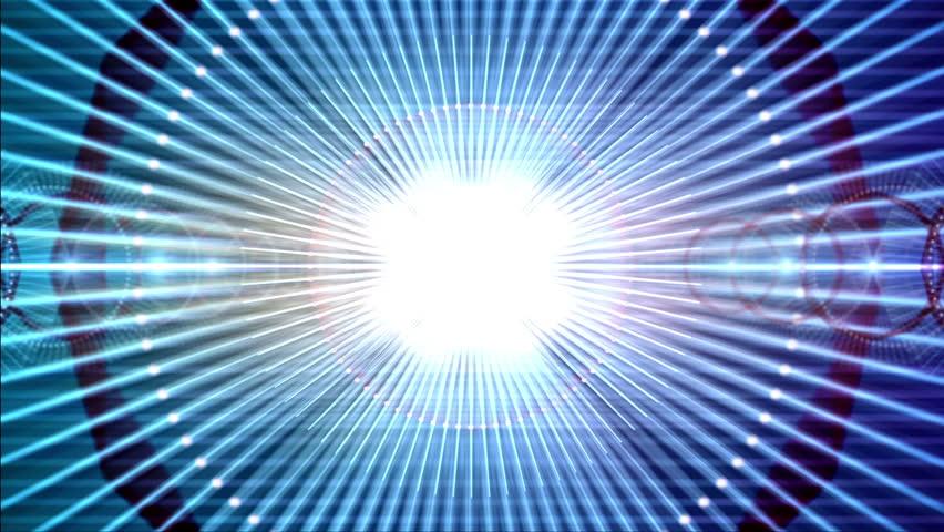4k Disco Hypnotic Light Centerd Vj Loop Disco Effect: Blue Fancy Light Effects Stock Footage Video 10981631