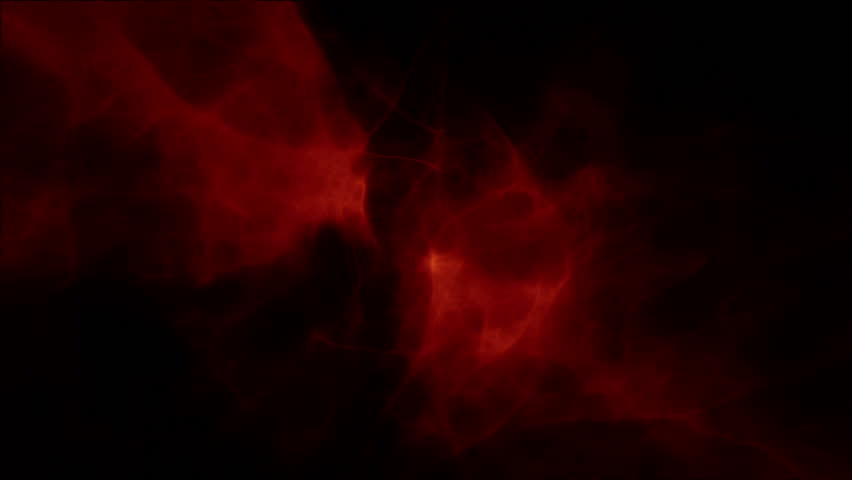 slow motion shot of red cloud on black background stock