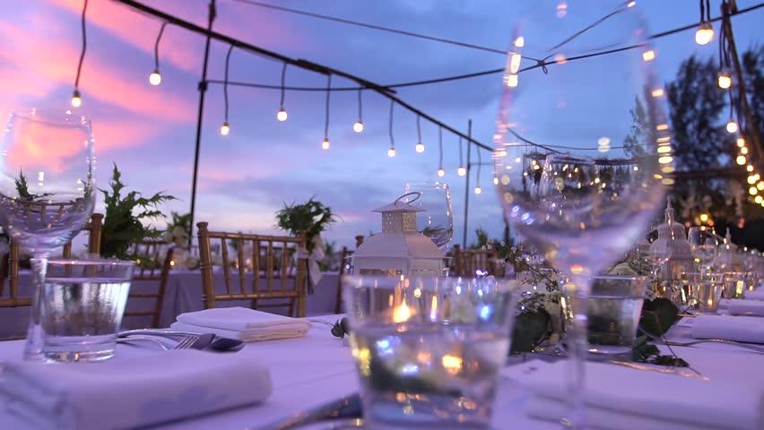 Wedding reception dinner decorations