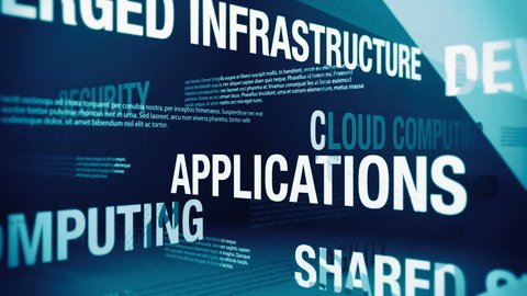 Cloud Computing Related Terms Background Loop