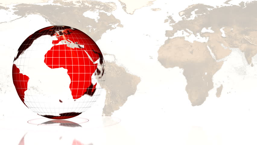 rotating globe loop - red