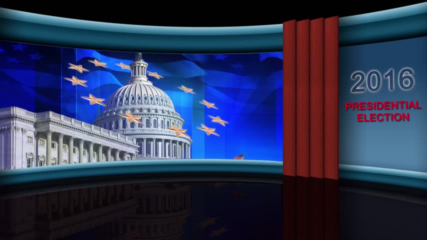 US Election - Virtual Green Screen Background Loop