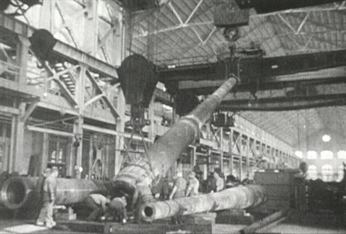 EUROPE - CIRCA 1942-1944: World War II, weapon making bomb gun tank montage
