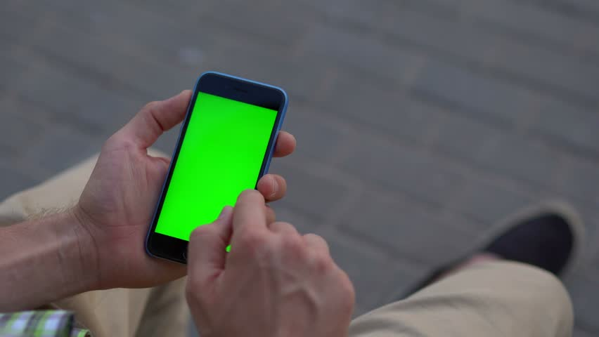 Man hand using smartphone with green screen 4K | Shutterstock HD Video #20168527