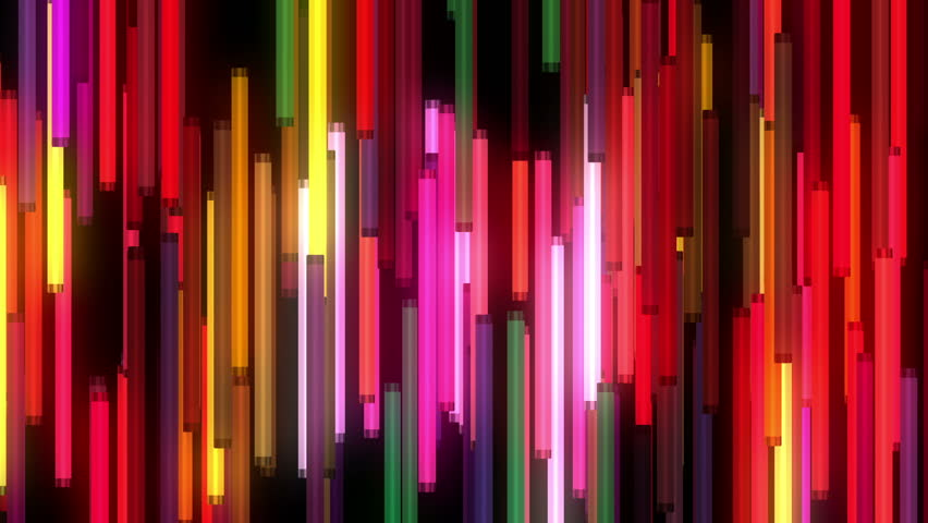Seamless motion graphics footage of animated colorful neon lamps for music videos, DJs and VJs, show, events, festivals, concerts, night clubs and TV broadcast, exhibitions, youtube promo, video-art. | Shutterstock HD Video #20192254