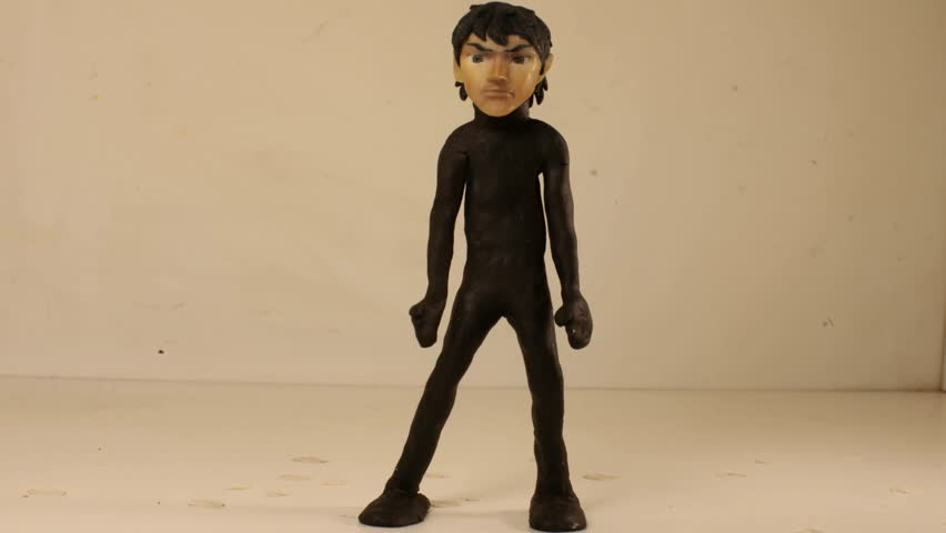 clap your hands puppet stop motion animation man black