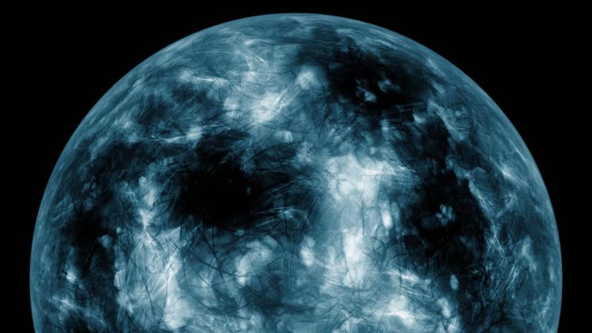 Spherical galactic object in a dark background | Shutterstock HD Video #20269474