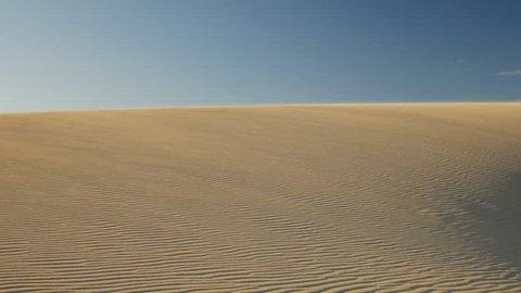 Shifting Sand Dunes in Fuerteventura, Canary Islands, Spain