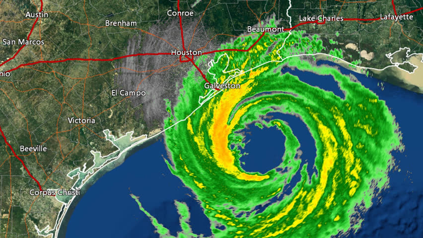 Time Lapse Doppler Radar Imagery Of Hurricane Ikes Landfall
