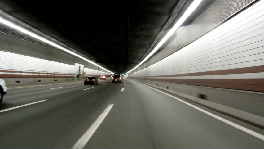 Driving Through Tunnel In Boston Ma