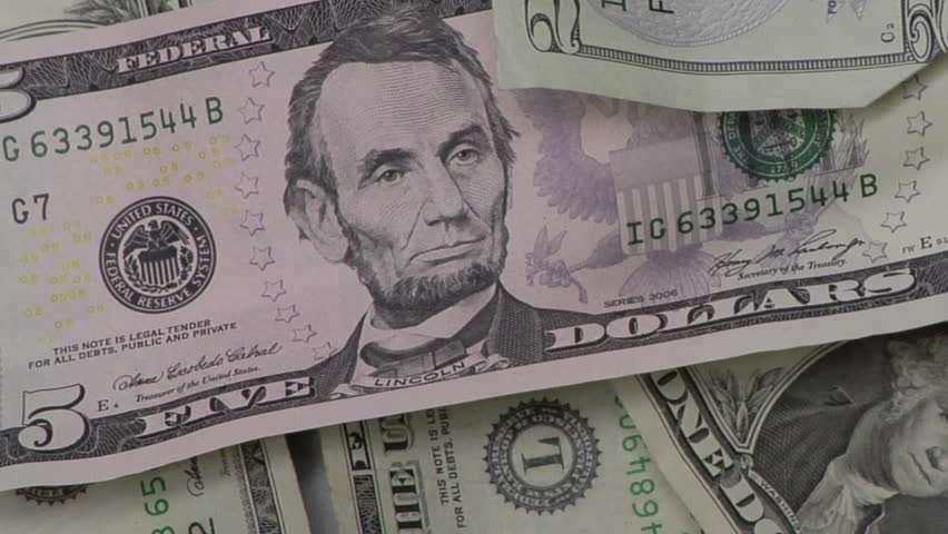 Close-up of Dollar Bills