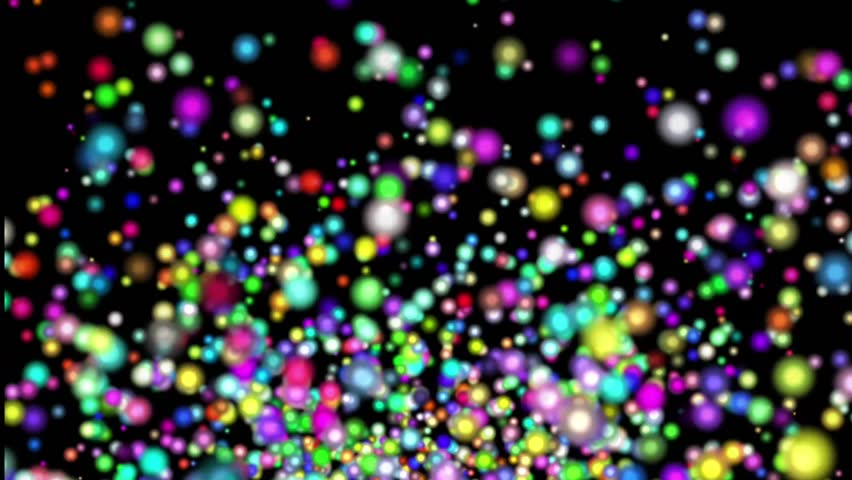 Animation of Colorful confetti rising and falling. confetti exploding on a black background  | Shutterstock HD Video #20438224