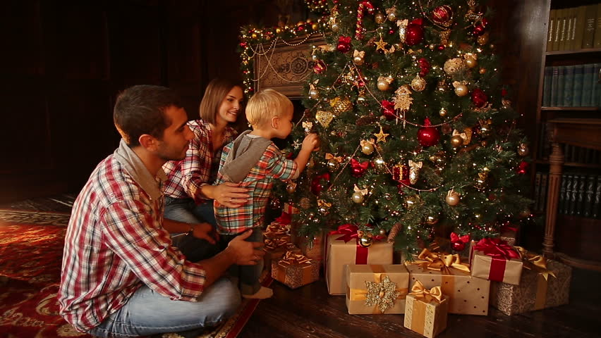 happy family decorating christmas and stock footage video 100 royalty free 20440924 shutterstock