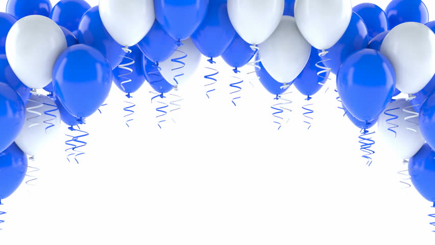 Blue And White Balloons On Stock Footage Video 100 Royalty Free 20458684 Shutterstock