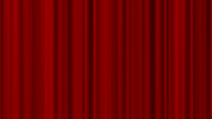 Opening And Closing Red Curtain Stock Footage Video 1008724 ...