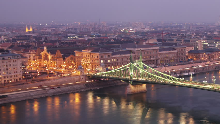 European City at Night Timelapse