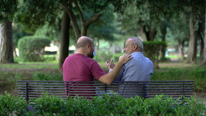 Father And Son Sitting On Stock Footage Video 100 Royalty Free
