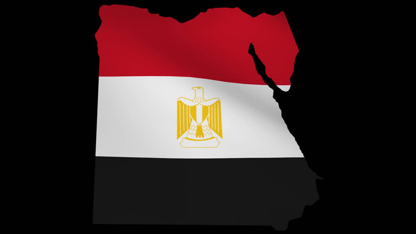 Fluttering Egypt Map Flag Animation Stock Footage Video - Map of egypt hd