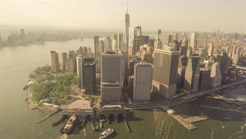 Lower Manhattan | New York City 4K Aerial footage of the Lower Manhattan filmed from a helicopter.