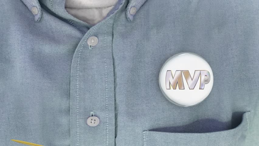MVP Most Valuable Player Person Button Pin Shirt 3d Animation | Shutterstock HD Video #20699344