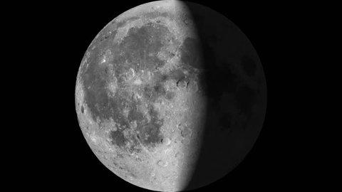 Moon phases 30 days timelapse animation