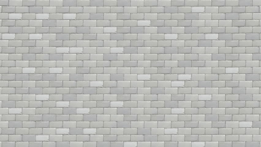 breaking white brick wall