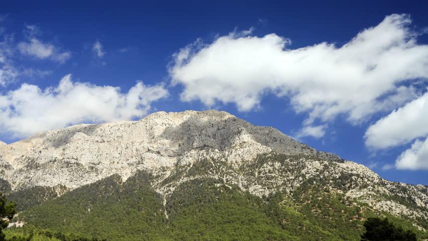 8k View of Tahtali Dag near the Cirali village, District of Kemer, Antalya Province.