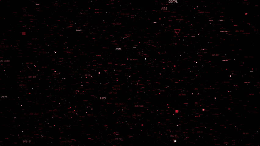 Abstract background with random particles. Dark technology or business background. Triangles, crosses and square forms of elements with different sizes. Loopable 3d rendering background.  | Shutterstock HD Video #20897893