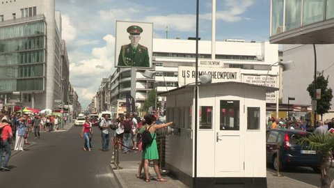 Historical Checkpoint Charlie in Berlin, 2014