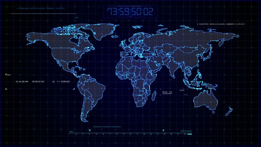 Sci Fi World Map Design. Stockvideos & Filmmaterial (100 ... Design World Map on