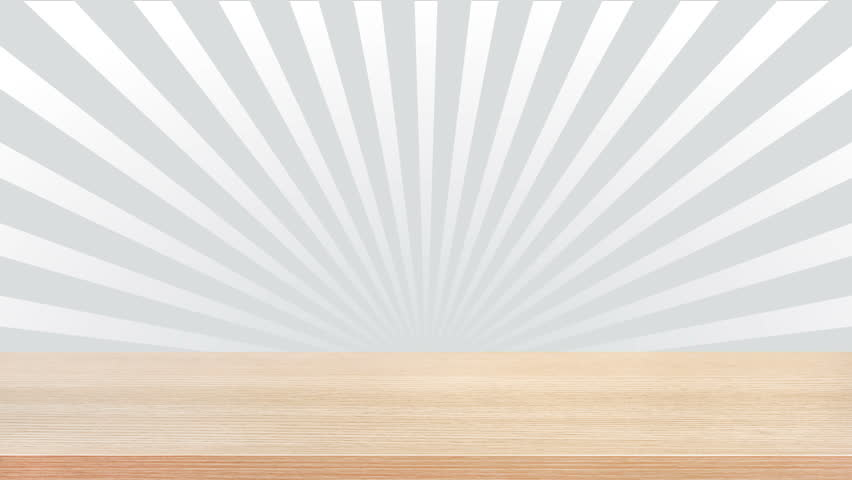 table top background hd. wood table top on white gray radiating (sunburst) background, seamless loop - hd background hd