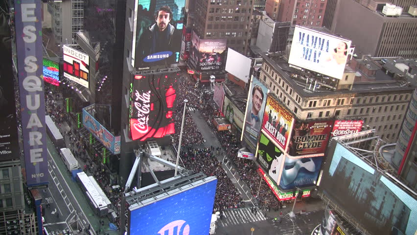 NEW YORK - DECEMBER 31: Crowds gather in preparation for meeting the new year 2012 in New York City's Time Square on December 31, 2011