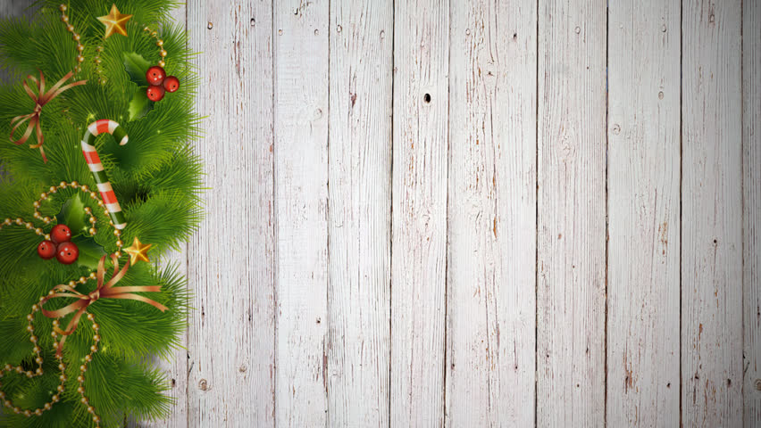 Christmas Wood Background.Christmas Decorations On A Tree Stock Footage Video 100 Royalty Free 21000214 Shutterstock