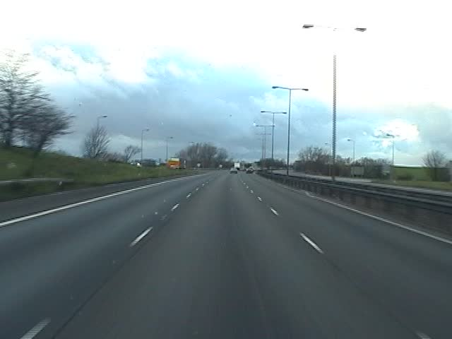 Motorway / Freeway reversed M1 England, United Kingdom