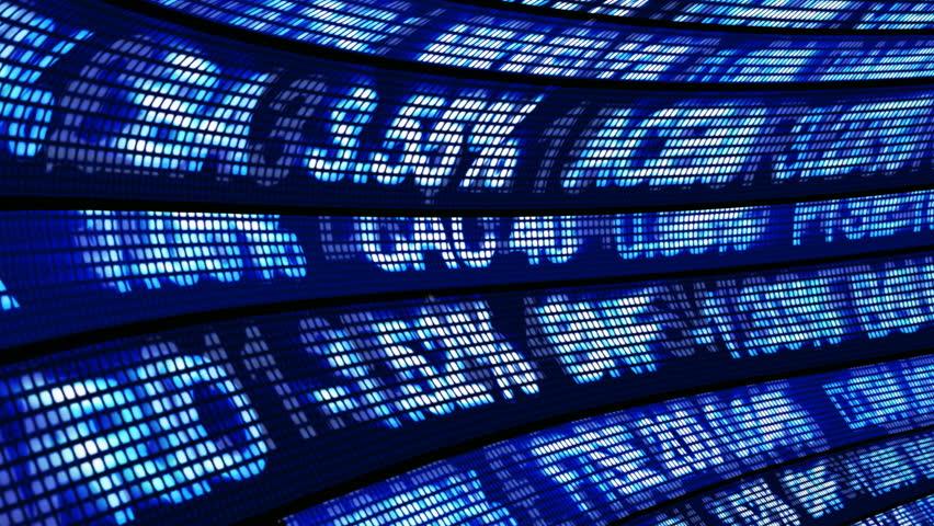 Stock Exchange Seamless 3d Animation