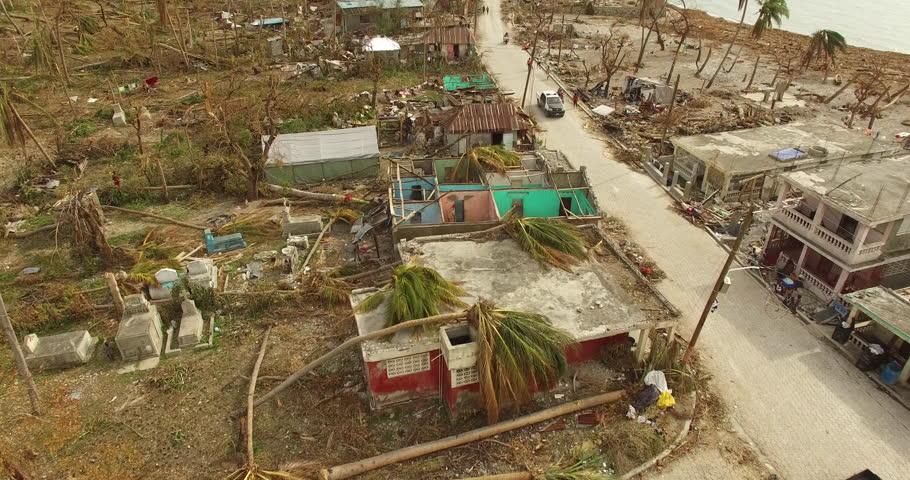 Drone footage Haiti after the Hurricane Matthew