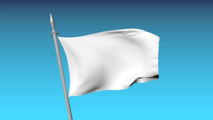 white flag waving on the sky